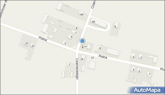 Wizna, Polna, 8, mapa Wizna