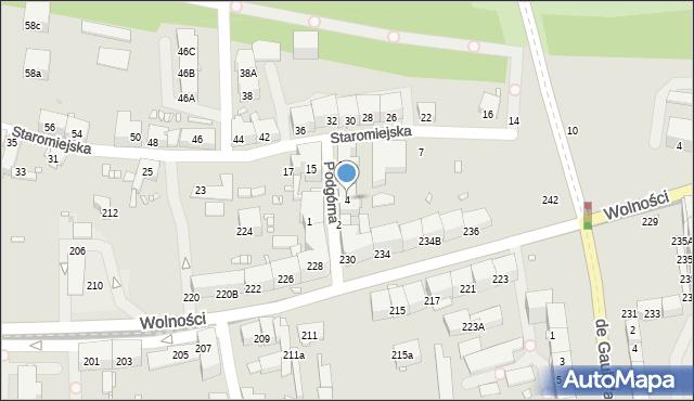 Zabrze, Podgórna, 4, mapa Zabrza