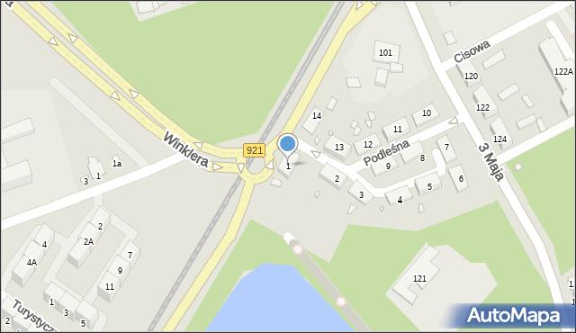 Zabrze, Podleśna, 1, mapa Zabrza
