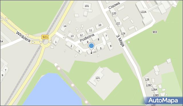 Zabrze, Podleśna, 4, mapa Zabrza