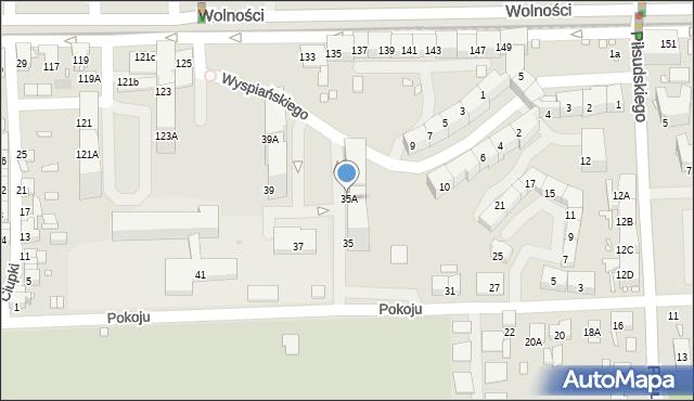 Zabrze, Pokoju, 35A, mapa Zabrza