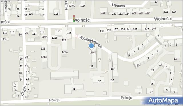 Zabrze, Pokoju, 39A, mapa Zabrza