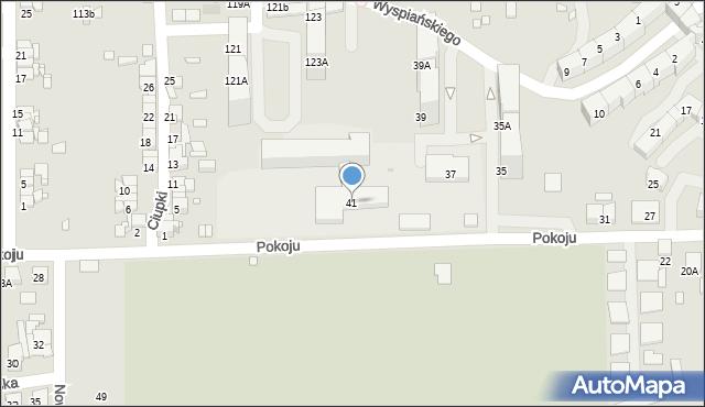 Zabrze, Pokoju, 41, mapa Zabrza