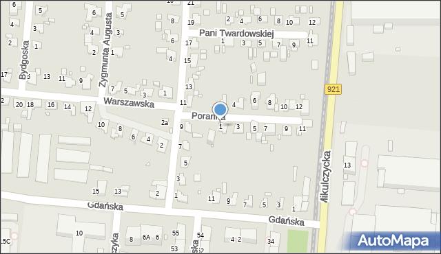 Zabrze, Poranna, 1, mapa Zabrza