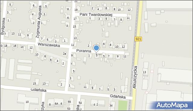 Zabrze, Poranna, 3, mapa Zabrza