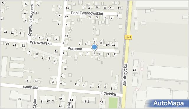 Zabrze, Poranna, 5, mapa Zabrza