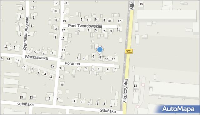 Zabrze, Poranna, 8, mapa Zabrza