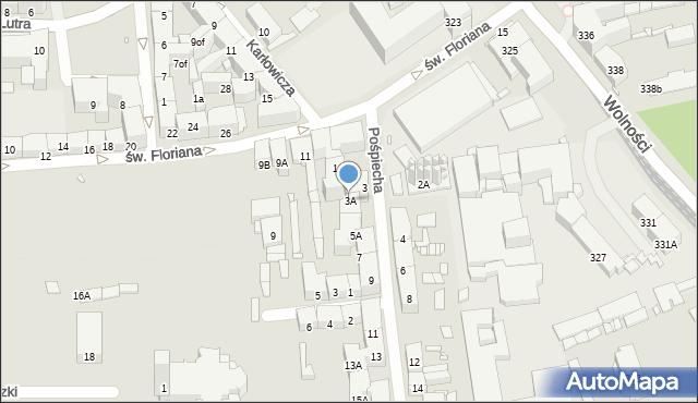 Zabrze, Pośpiecha Pawła, ks., 3A, mapa Zabrza