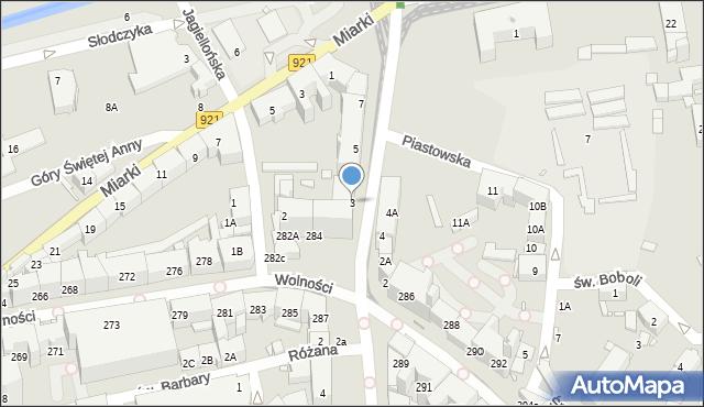 Zabrze, Powstańców Śląskich, 3, mapa Zabrza