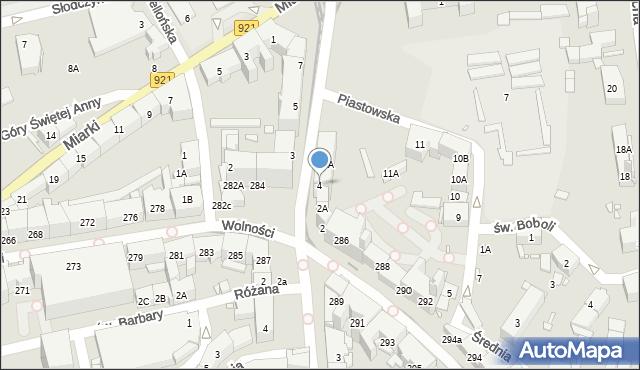 Zabrze, Powstańców Śląskich, 4, mapa Zabrza