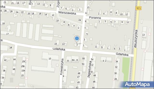 Zabrze, Poznańska, 2, mapa Zabrza