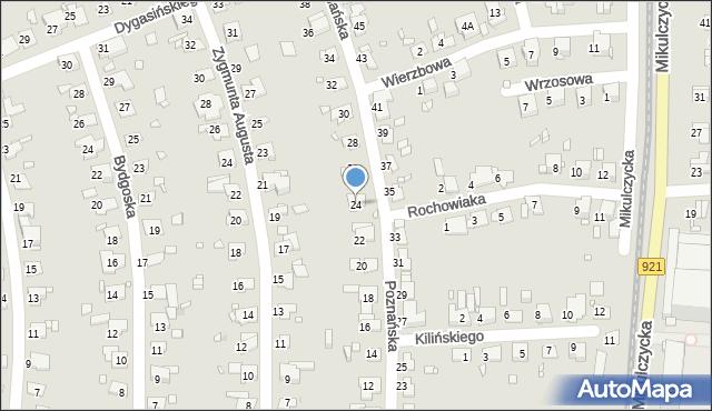 Zabrze, Poznańska, 24, mapa Zabrza