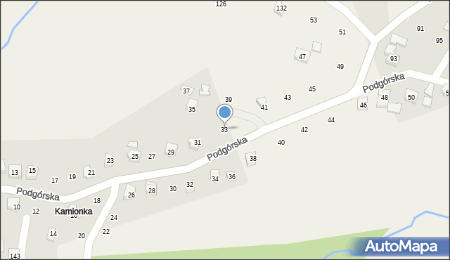 Zakliczyn, Podgórska, 33, mapa Zakliczyn