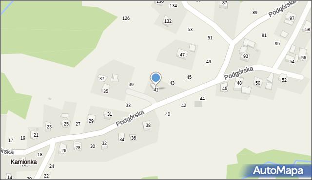 Zakliczyn, Podgórska, 41, mapa Zakliczyn