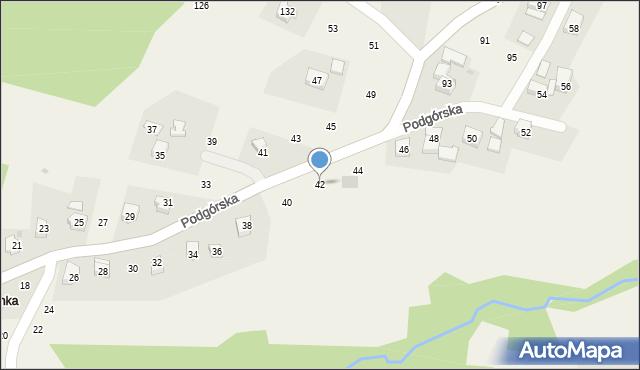 Zakliczyn, Podgórska, 42, mapa Zakliczyn