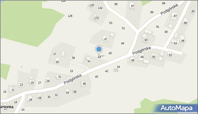 Zakliczyn, Podgórska, 43, mapa Zakliczyn
