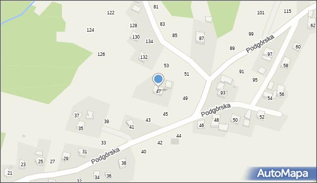 Zakliczyn, Podgórska, 47, mapa Zakliczyn
