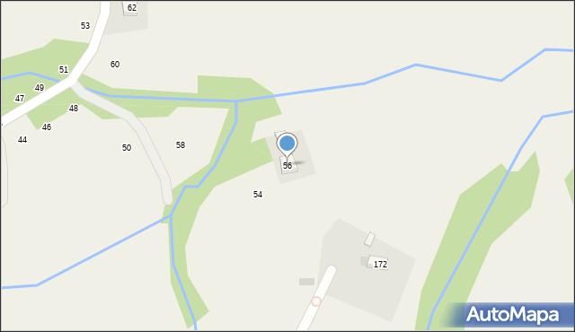 Zakliczyn, Podlesie, 56, mapa Zakliczyn