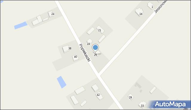 Żanecin, Popiełuszki Jerzego, bł. ks., 25, mapa Żanecin