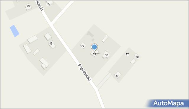Żanecin, Popiełuszki Jerzego, bł. ks., 33, mapa Żanecin