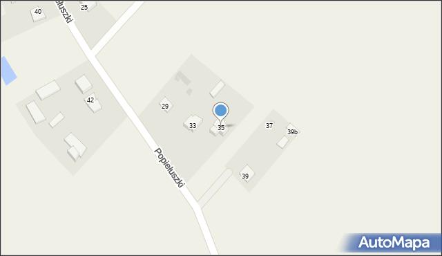 Żanecin, Popiełuszki Jerzego, bł. ks., 35, mapa Żanecin