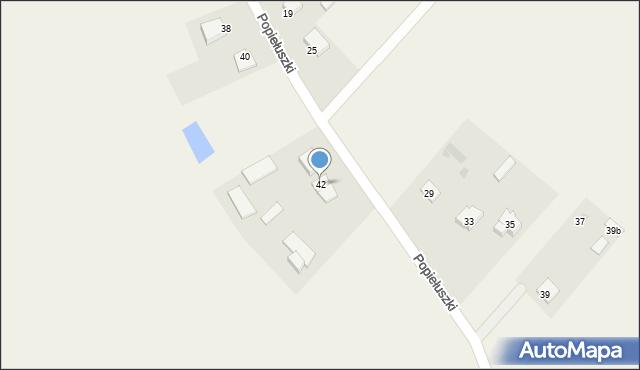 Żanecin, Popiełuszki Jerzego, bł. ks., 42, mapa Żanecin