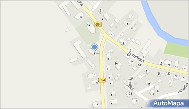 Złotoria, Pomorska, 2, mapa Złotoria