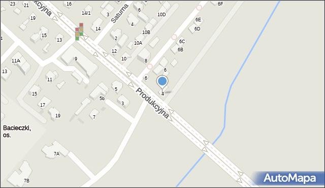 Białystok, Produkcyjna, 4, mapa Białegostoku