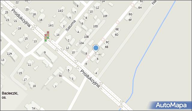 Białystok, Produkcyjna, 6A, mapa Białegostoku
