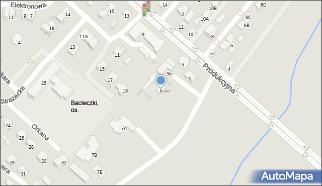 Białystok, Produkcyjna, 7, mapa Białegostoku