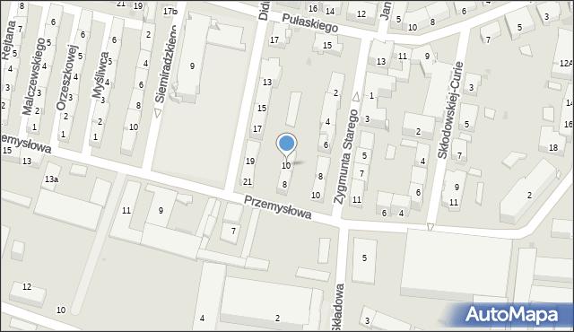 Bytom, Przemysłowa, 10, mapa Bytomia