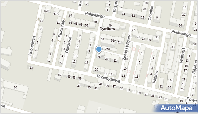 Bytom, Przemysłowa, 26, mapa Bytomia