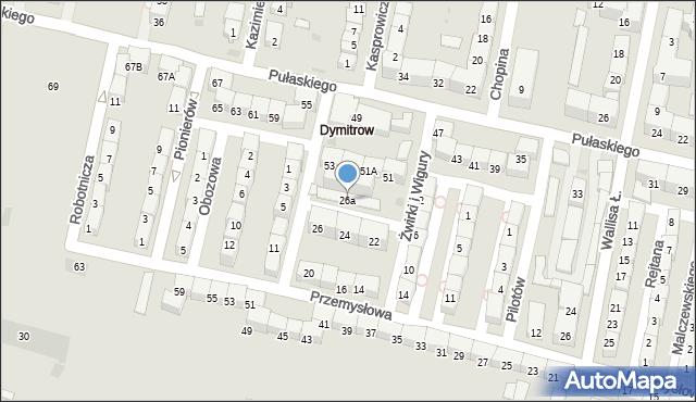 Bytom, Przemysłowa, 26a, mapa Bytomia