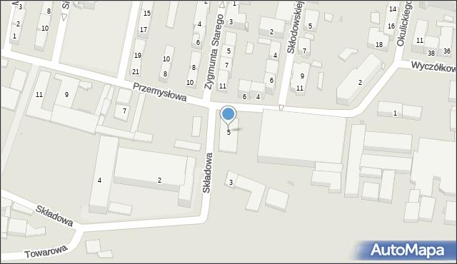 Bytom, Przemysłowa, 5, mapa Bytomia