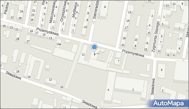 Bytom, Przemysłowa, 9, mapa Bytomia