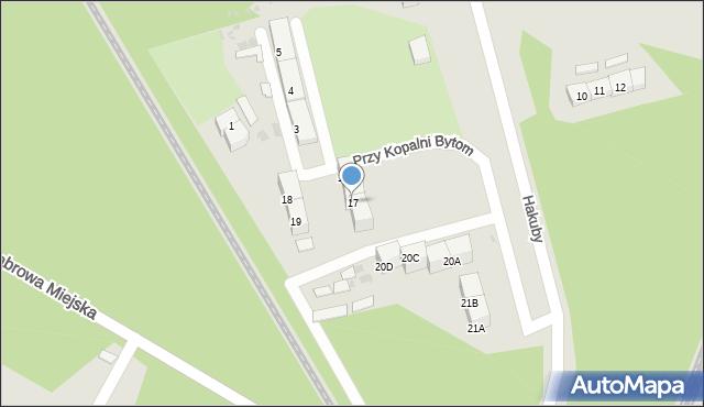Bytom, Przy Kopalni Bytom, 17, mapa Bytomia