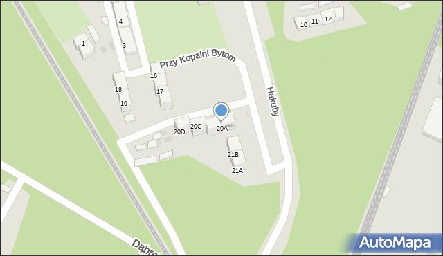 Bytom, Przy Kopalni Bytom, 20A, mapa Bytomia