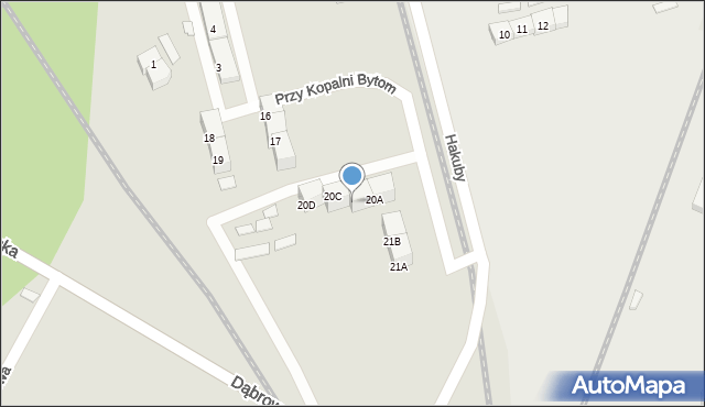 Bytom, Przy Kopalni Bytom, 20B, mapa Bytomia