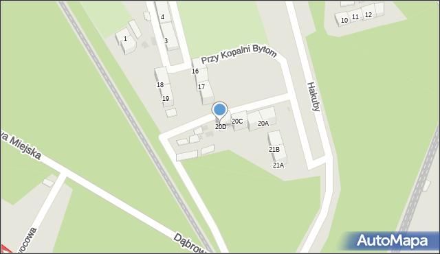 Bytom, Przy Kopalni Bytom, 20D, mapa Bytomia
