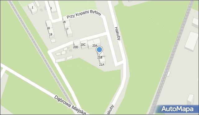 Bytom, Przy Kopalni Bytom, 21B, mapa Bytomia
