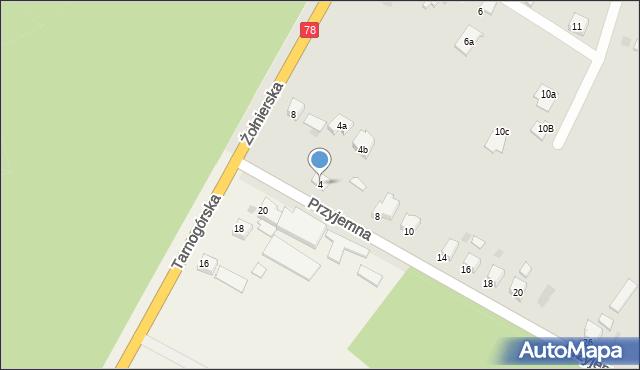 Bytom, Przyjemna, 4, mapa Bytomia