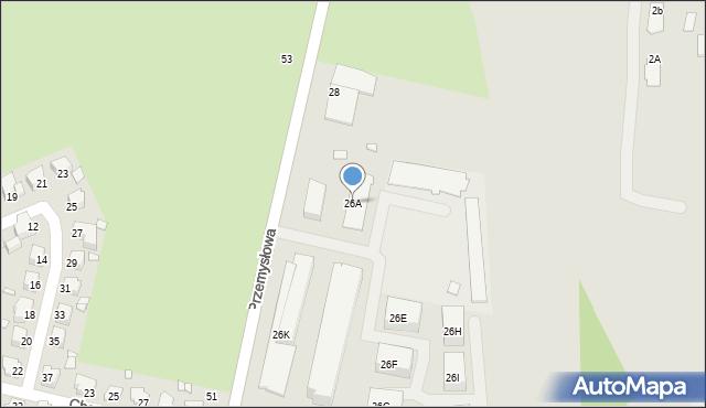 Chełm, Przemysłowa, 26A, mapa Chełma
