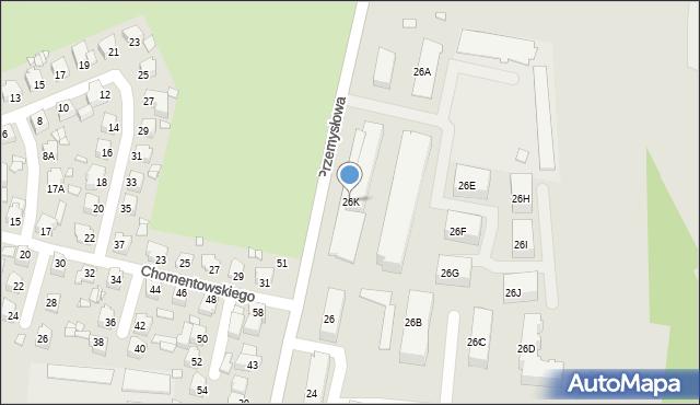 Chełm, Przemysłowa, 26K, mapa Chełma