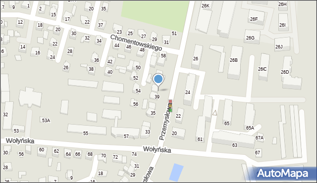 Chełm, Przemysłowa, 41, mapa Chełma