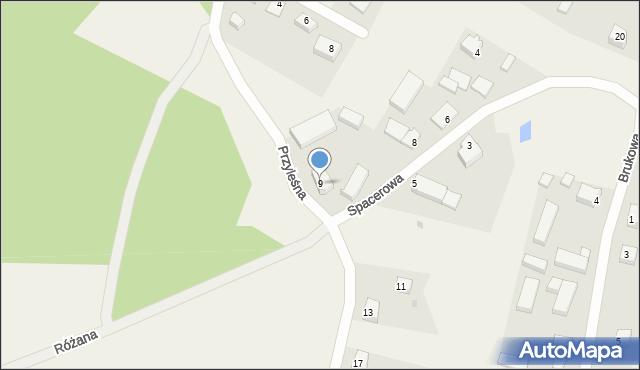 Dąbrówka, Przyleśna, 9, mapa Dąbrówka