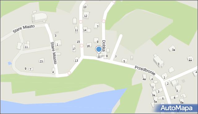 Dobczyce, Przedbronie, 11, mapa Dobczyce