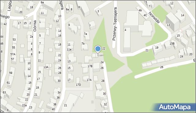 Gdynia, Przerwy-Tetmajera Kazimierza, 24, mapa Gdyni