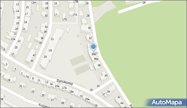 Gdynia, Przerwy-Tetmajera Kazimierza, 34b, mapa Gdyni