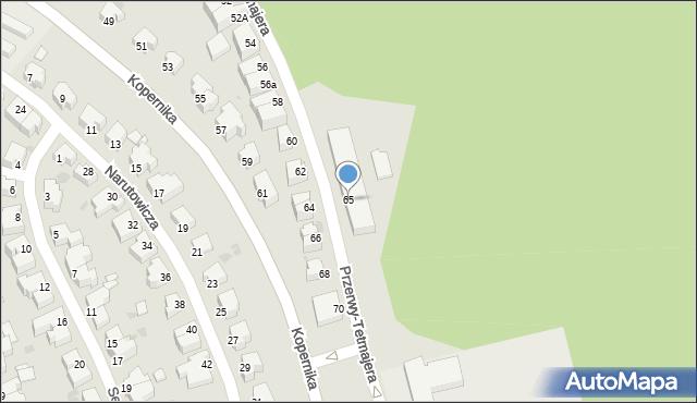 Gdynia, Przerwy-Tetmajera Kazimierza, 65, mapa Gdyni