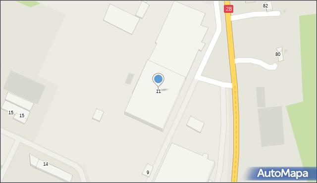 Gorlice, Przemysłowa, 11, mapa Gorlic